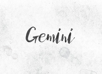 Gemini Concept Painted Ink Word and Theme