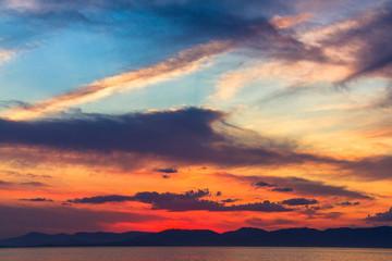 Beautiful summer sunset.
