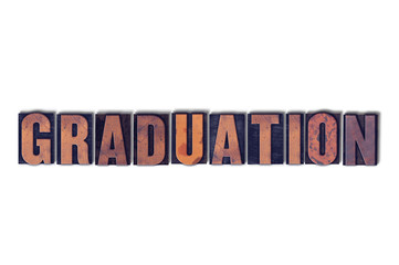 Graduation Concept Isolated Letterpress Word