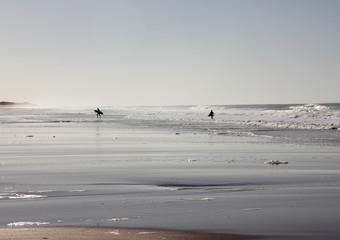 Surfeurs et vagues