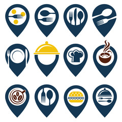 collection of food point icons