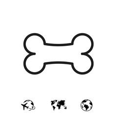 bone icon stock vector illustration flat design
