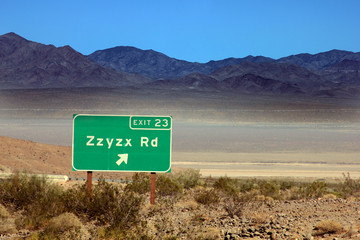 Zzyzx is the last word in the dictionary