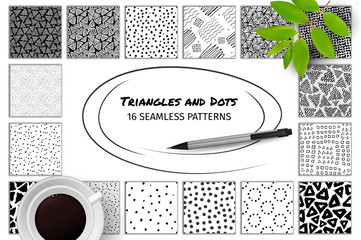 Hand Drawn Seamless Abstract Patterns