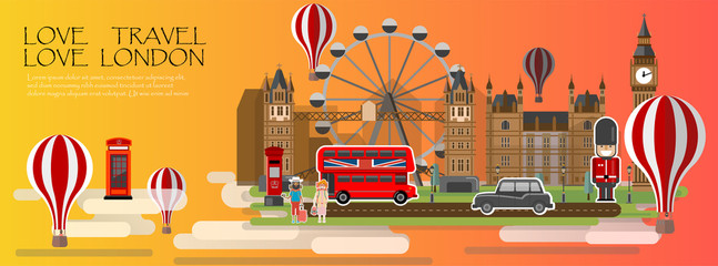 Travel infographic. London infographic tourist sights of Great Britain, welcome to England. United kingdom infographic. Travel to London presentation template