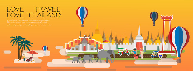 Travel Bangkok Thailand Infographic.Travel infographic .