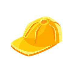 Yellow baseball cap vector Illustration