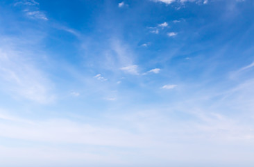 White fluffy cloud in the blue sky