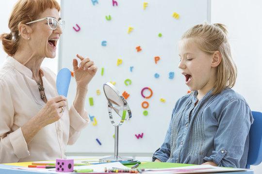Speech and language rehabilitation