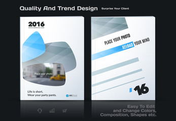 Set of Business vector template, brochure design, abstract annual report, cover modern layout