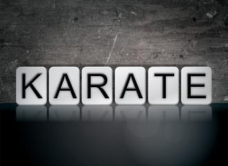 Karate Concept Tiled Word