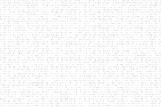 Abstract futuristic background from a black binary code on a white background. Web programming in design. Modern technologies