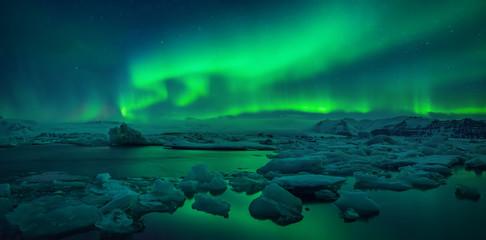 Jokulsarlon Lagoon Aurora