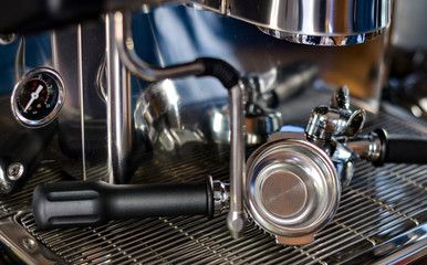 Coffee machine in the coffee house