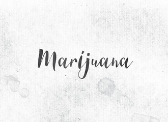 Marijuana Concept Painted Ink Word and Theme