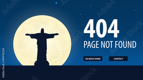 404 error page not found ui ux template for website vector