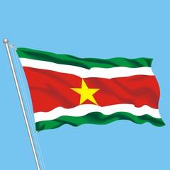 Flag Suriname