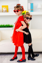 two little fashion-mongers