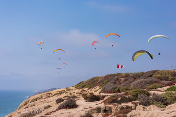 Paragliding Over San Diego