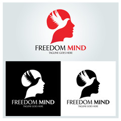 Freedom mind logo design template. Vector illustration