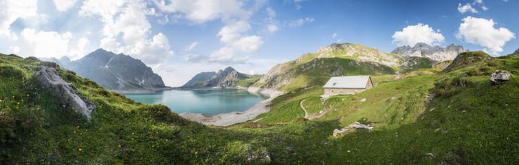 Fototapete - Sommer Bergpanorama