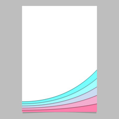 Brochure template from curved stripe layers - vector page graphic with shadow effect