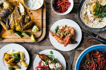 Modern Iranian Summer BBQ Feast