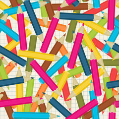 Colorful pencils/crayons seamless wallpaper