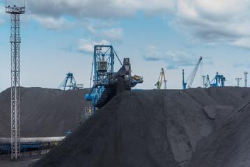 Work in port coal handling terminal