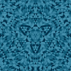 Round abstract geometrical triangle mandala background - symmetric vector pattern graphic art from triangles