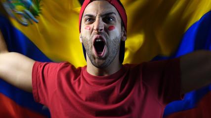 Venezuelan Guy Waving Venezuela Flag