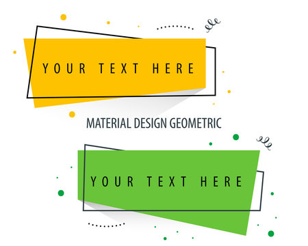 Flat Geometric Shape for poster or social media campaign with material design color