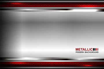 Metallic background polished steel texture, vector illustration Wall mural
