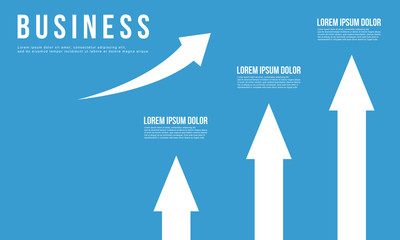 Growth arrow business Infographic design