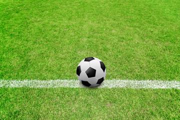 soccer ball on sideline
