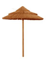 Bamboo beach umbrella isolated