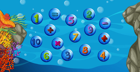 Counting numbers with underwater background