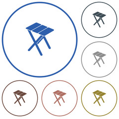 Camping stool icon