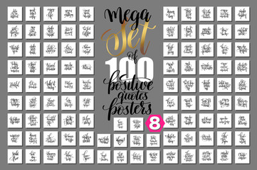 mega set of 100 positive quotes posters, motivational and inspir