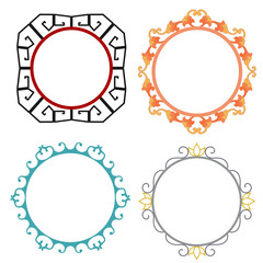 Frames Chinese pattern. Raster copy.