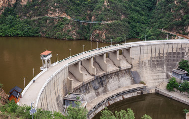 Old dam on the river in China