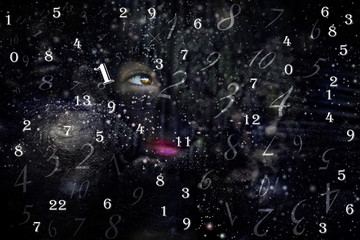 Female portrait in the Universe and numerology