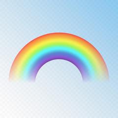 Realistic vector transparent rainbow.