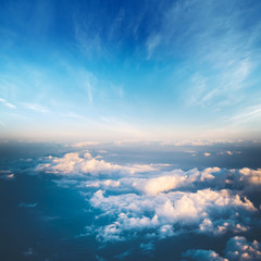 Clouds in sky atmosphere panorama