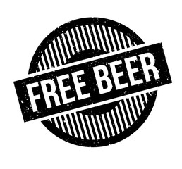 Free Beer rubber stamp. Grunge design with dust scratches. Effects can be easily removed for a clean, crisp look. Color is easily changed.