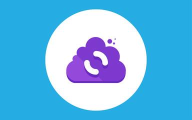 Cloud flat vector
