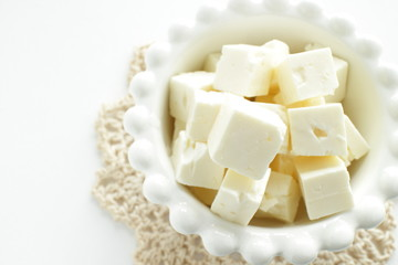 cube cheese for prepared food image
