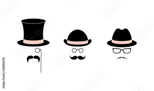 cb5756fd815a9 Retro set of simple vector icons with various moustaches