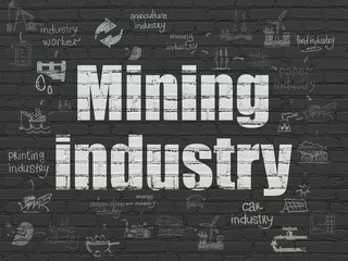 Industry concept: Mining Industry on wall background