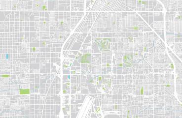Vector city map of Las Vegas, Nevada